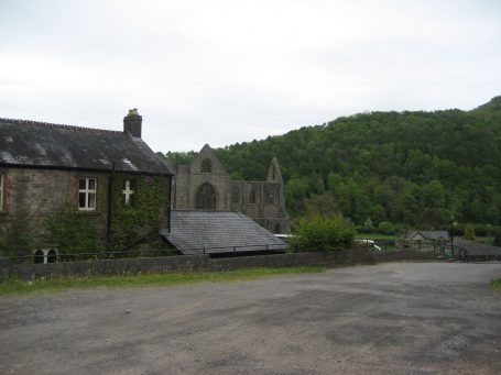 After hiking for 5 hours we finally saw our destination, Tintern Abbey