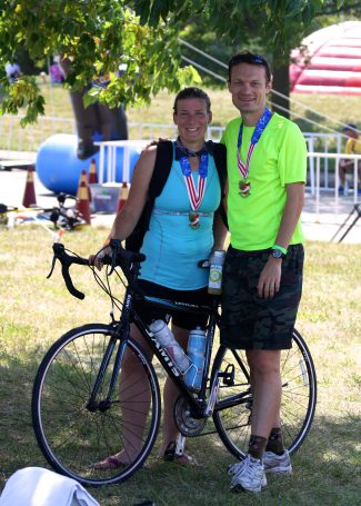 Peter & Jen after our Races