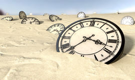 http://www.dreamstime.com/royalty-free-stock-photo-antique-clocks-desert-sand-image29060035